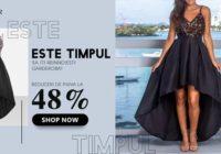 Cumpărați modelul nou de rochii cu imprimeu vintage
